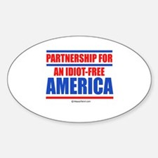 Partnership for an idiot-free America - Decal