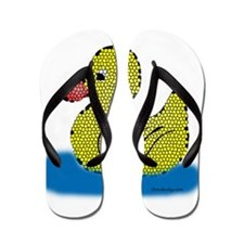 Stained Glass Duck Flip Flops