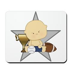 Cute sports baby future star Mousepad