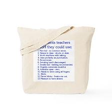 Teacher Comments Tote Bag
