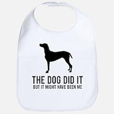 The dog did it .. Bib