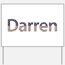 Darren Stars and Stripes Yard Sign