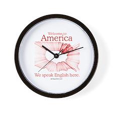 We speak English here -  Wall Clock