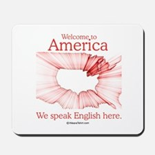 We speak English here -  Mousepad