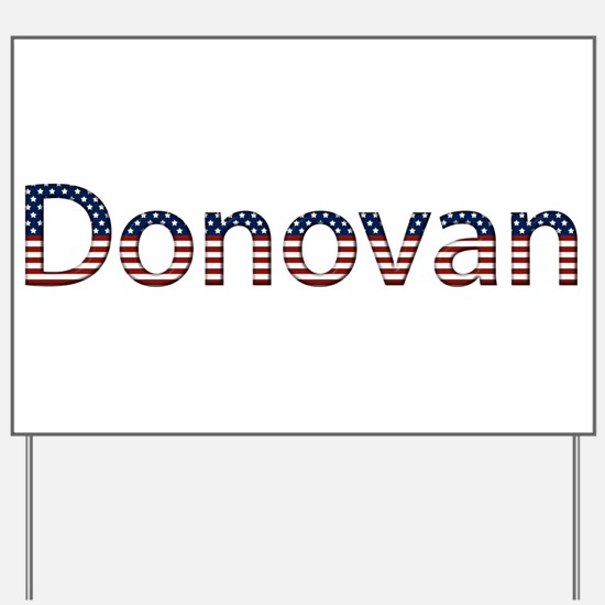 Donovan Stars and Stripes Yard Sign
