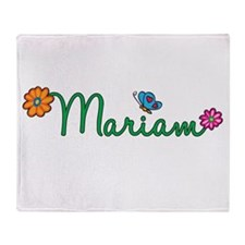 Mariam Flowers Throw Blanket