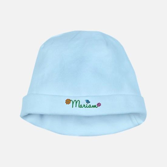 Mariam Flowers baby hat