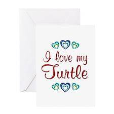 Love My Turtle Greeting Card