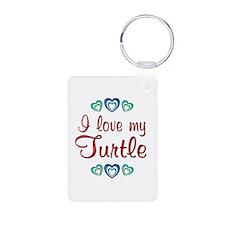 Love My Turtle Keychains