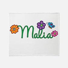 Malia Flowers Throw Blanket