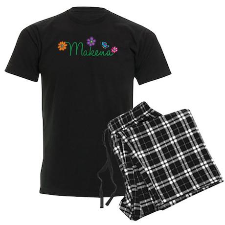 Makena Flowers Men's Dark Pajamas