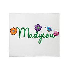 Madyson Flowers Throw Blanket
