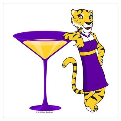 Louisana Tigertini Poster