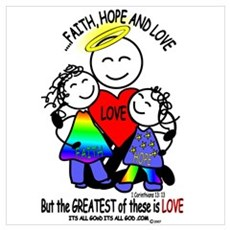 FAITH, HOPE & LOVE Canvas Art