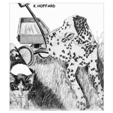 Dalmation and Kitten Canvas Art