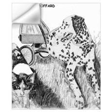 Dalmation and Kitten Wall Decal