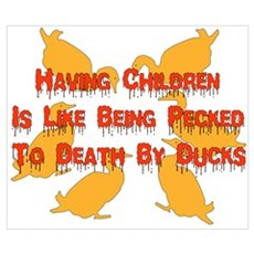 Pecked By Ducks Poster