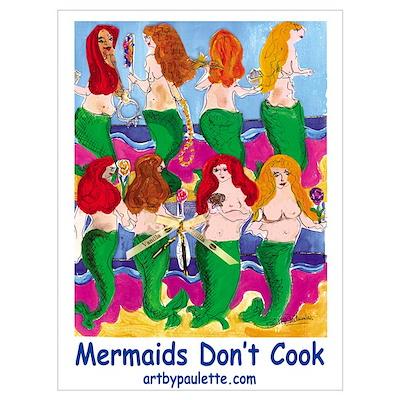 Cooking Mermaids Poster