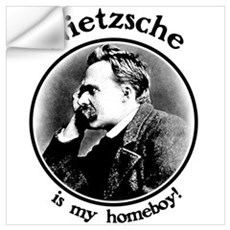Nietzsche is my homeboy! Wall Decal