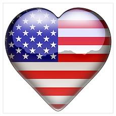 USA Heart Poster