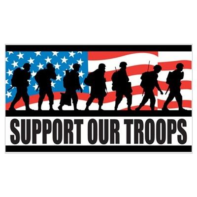 Support Our Troops Wall Art Poster