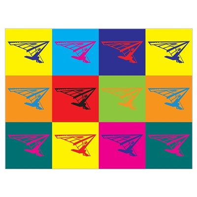 Hang Gliding Pop Art Poster