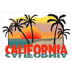 California Sunset Souvenir Poster