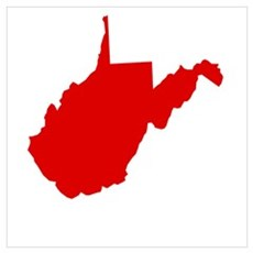 Red West Virginia Canvas Art