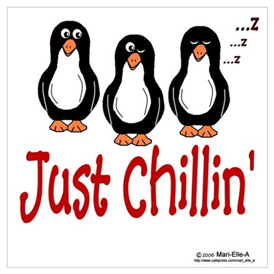 Penguins Chillin' Canvas Art