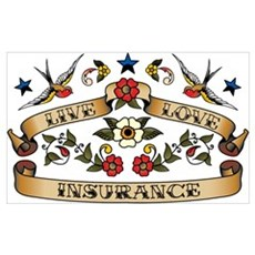 Live Love Insurance Poster