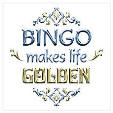 BINGO is Golden Poster