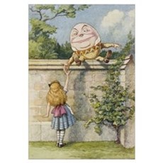 Alice and Humpty Dumpty Framed Print