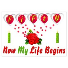Life Begins At Fifty Canvas Art
