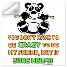 Crazy Friends Wall Decal