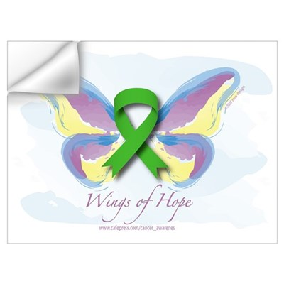 Lymphoma Wings of Hope Wall Decal