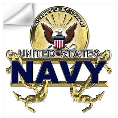 US Navy Gold Anchors Wall Decal