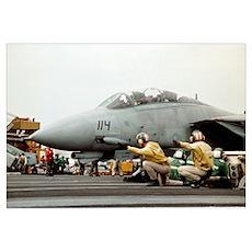F14B Tomcat From the USS Kitt Poster