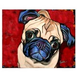 Pug Wrapped Canvas Art