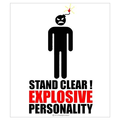 Stand clear! explosive person Poster