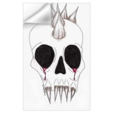 Spike Skull Wall Decal