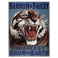 Vintage Circus Tiger Poster