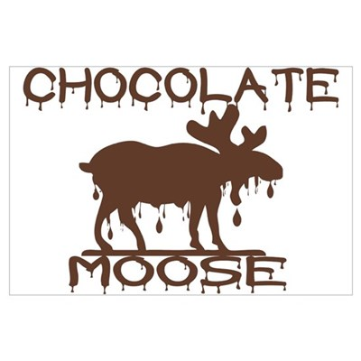 Chocolate Moose Canvas Art