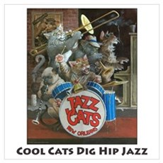 Cool Cats Dig Hip Jazz Poster