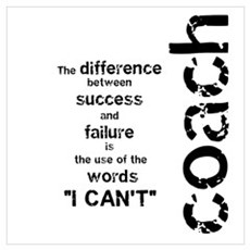 Failure and Success Black Poster
