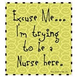 Student nursing Framed Prints