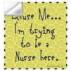 Trying to be Nurse Wall Decal