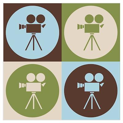 Operating a Camera Pop Art Poster