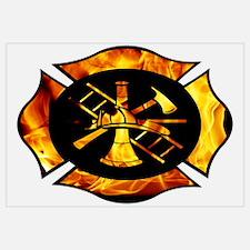 Flaming Maltese Cross
