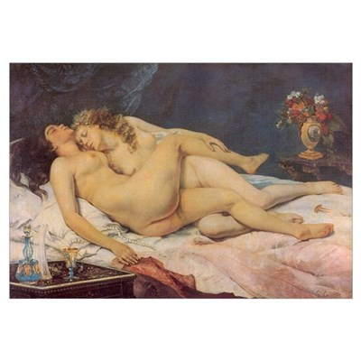 Courbet's Sleep Framed Print