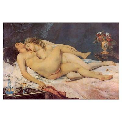 Courbet's Sleep Poster